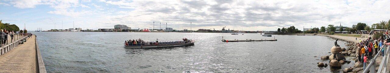 Copenhagen. The little mermaid (Den Lille Havfrue), panorama