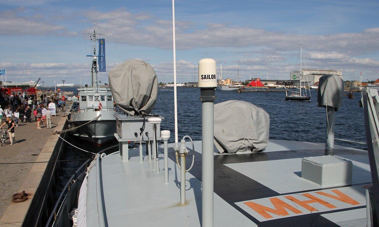 Copenhagen. Diving boat of the Denmark Navy