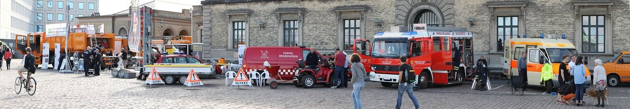 Copenhagen. Exhibition of rescue services panorama