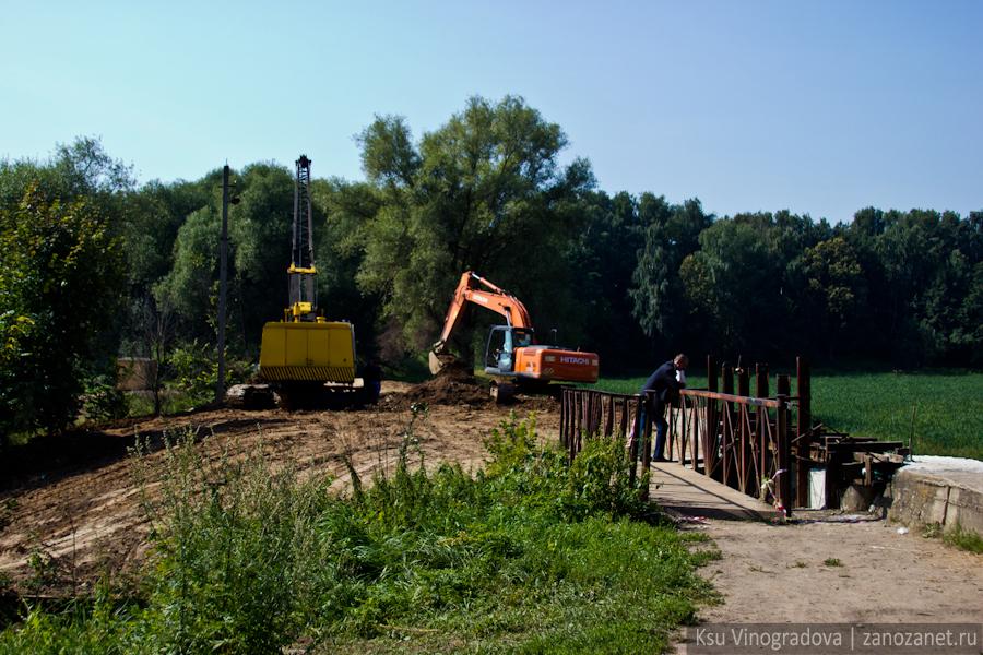 Работы на месте Сухановского пруда. Усадьба Суханово.