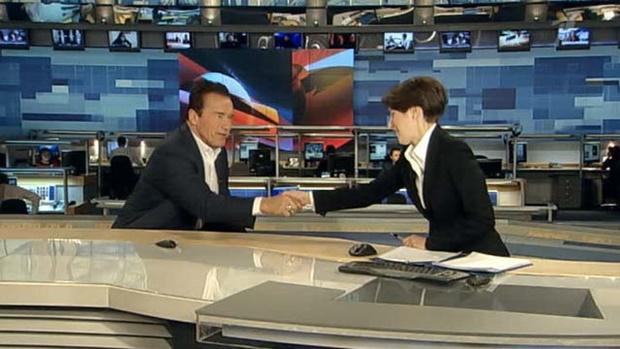 Арнольд Шварценеггер будет гостем студии новостей Первого канала