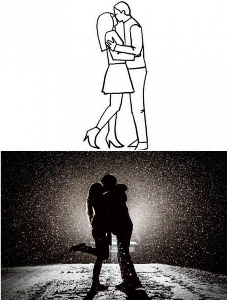 20 удачных поз для романтической фотосессии
