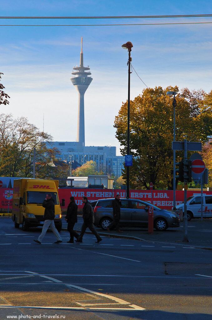 Телебашня Рейнтурм (Rheinturm). Прогулка по Дюссельдорфу.