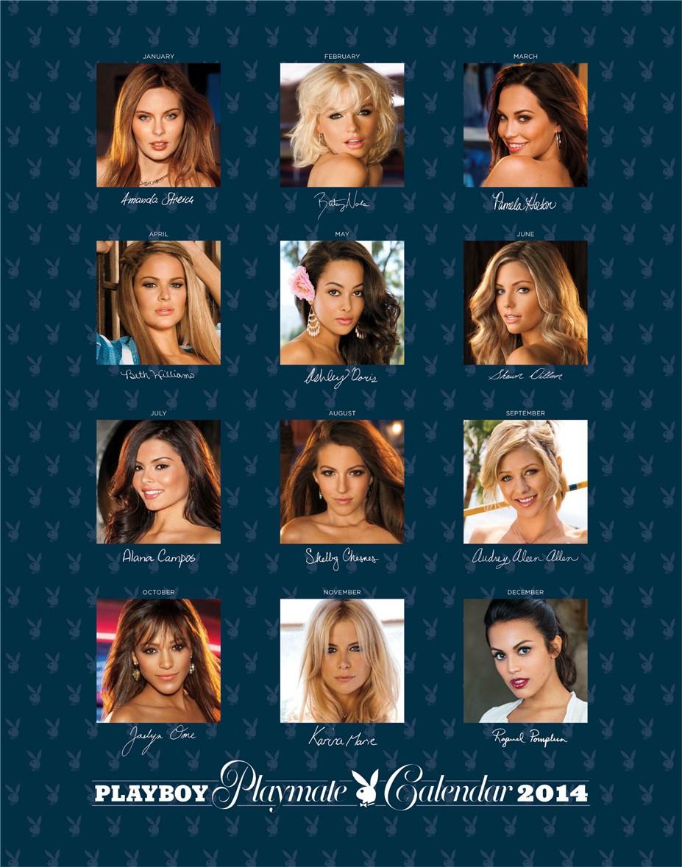 cover-back / Playboy USA playmate calendar 2014