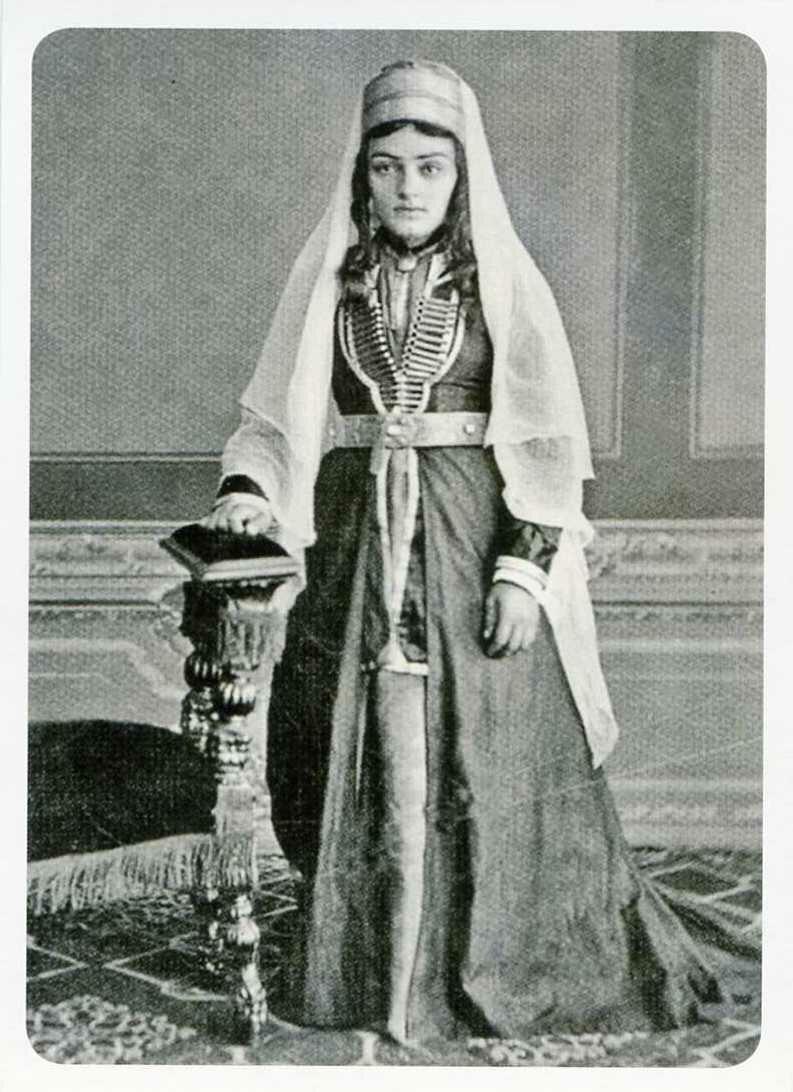 Молодая кабардинка. 1870-е годы.