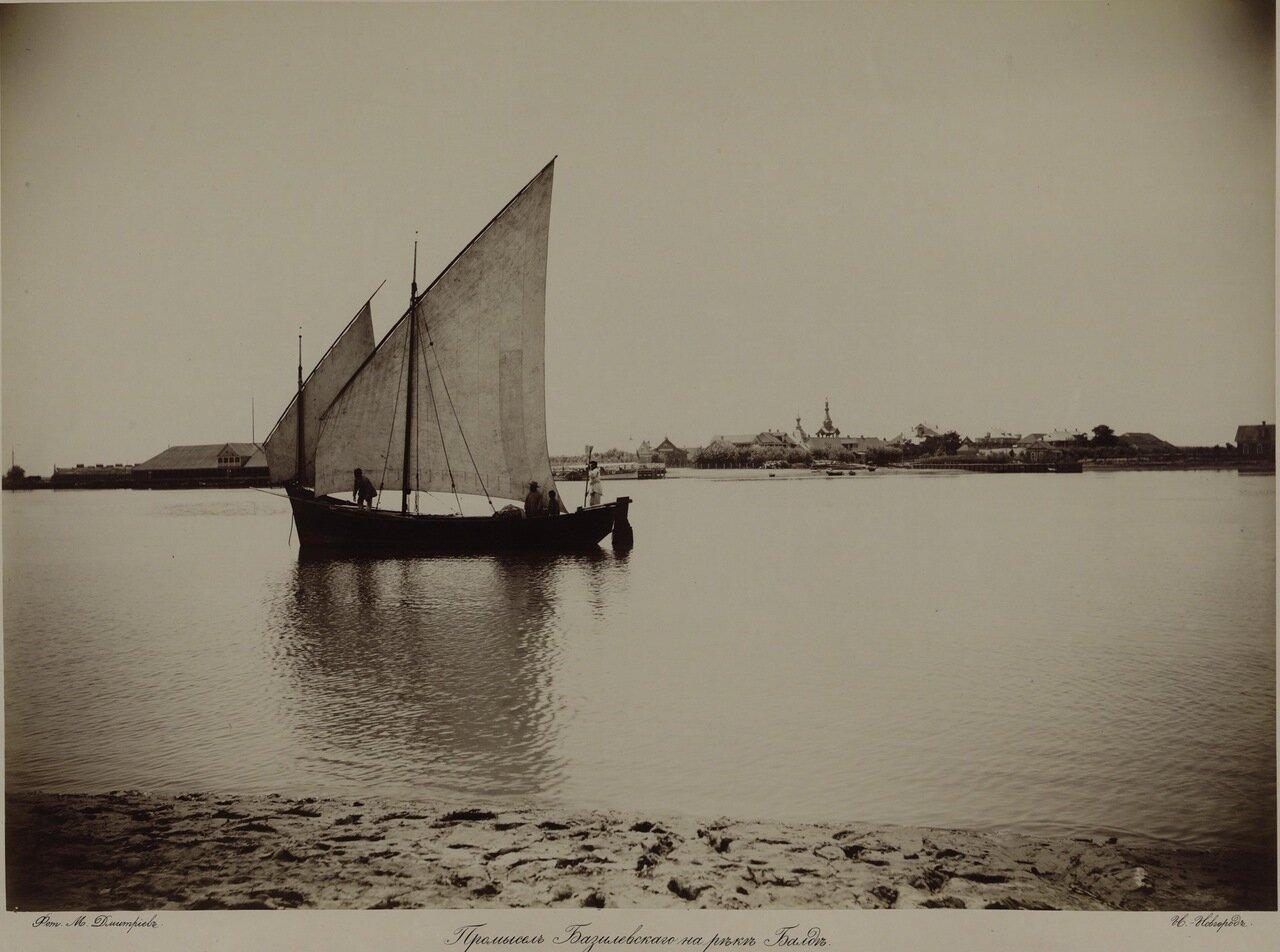 Промысел Базилевского на реке Балде в районе Астрахани) 1890-е.