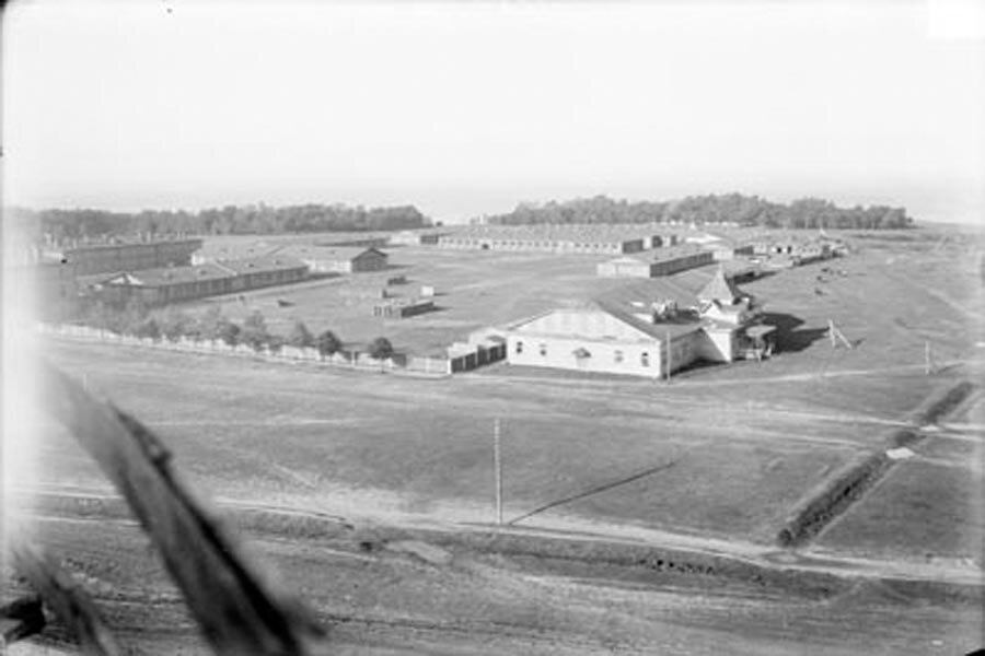 Общий вид казарм запасной конноартиллерийской бригады