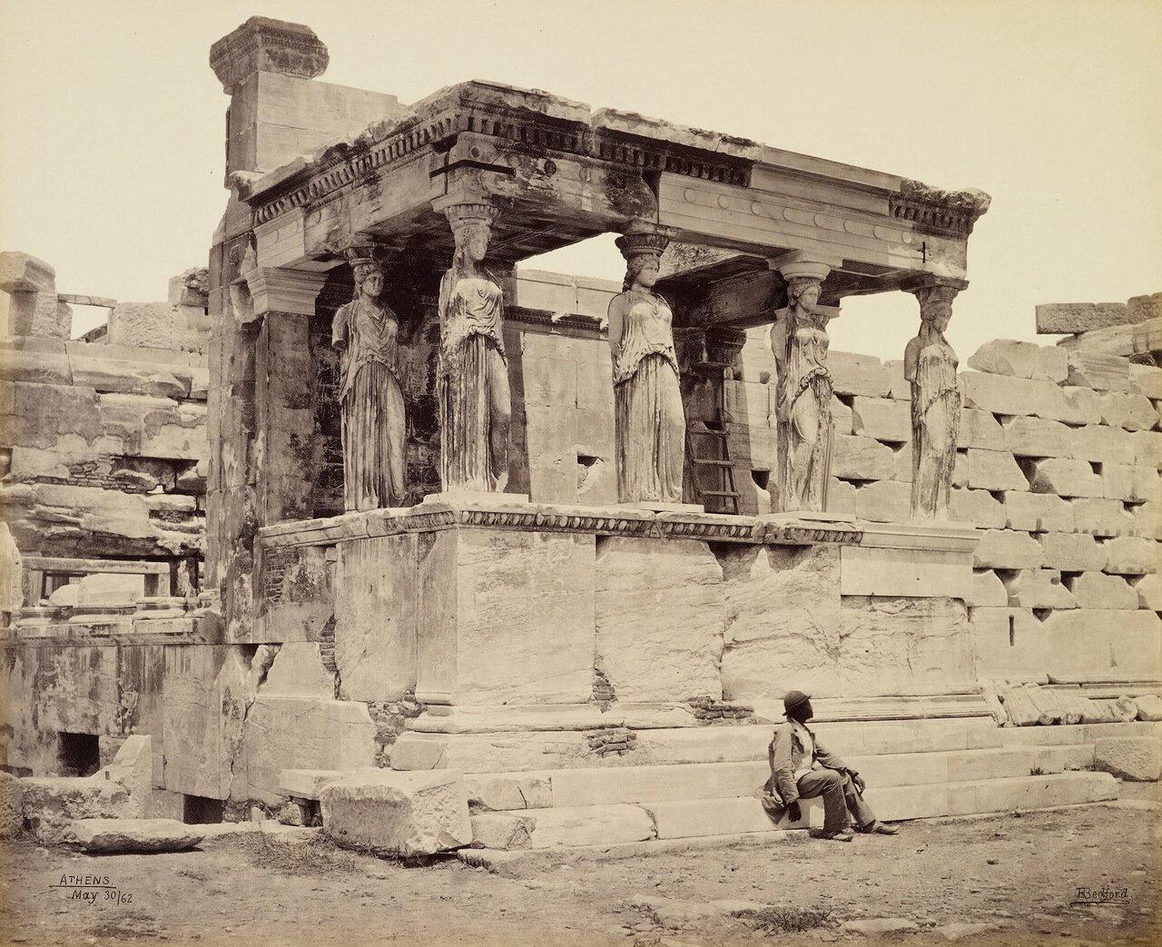 30 мая 1862. Кариатида Эрехтейона. Афины