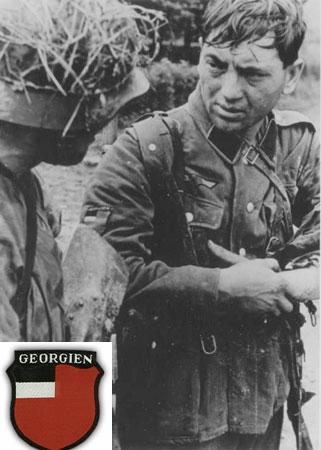 Гауптман Гиви Габрилиани пишет отчет в Берлин. 1945 г. legioner1.jpg