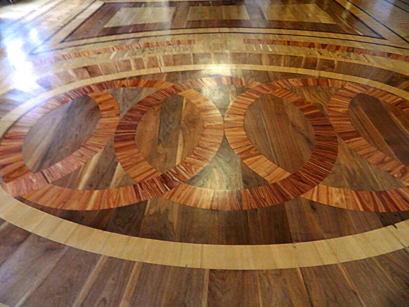 Паркет Мраморной столовой Гатчинского замка