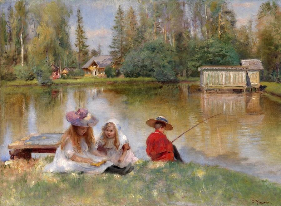 Дети у озера Частное собрание.