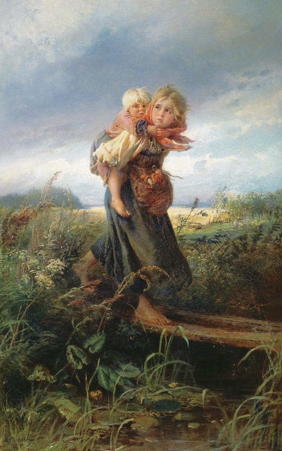 Дети, бегущие от грозы. 1872..