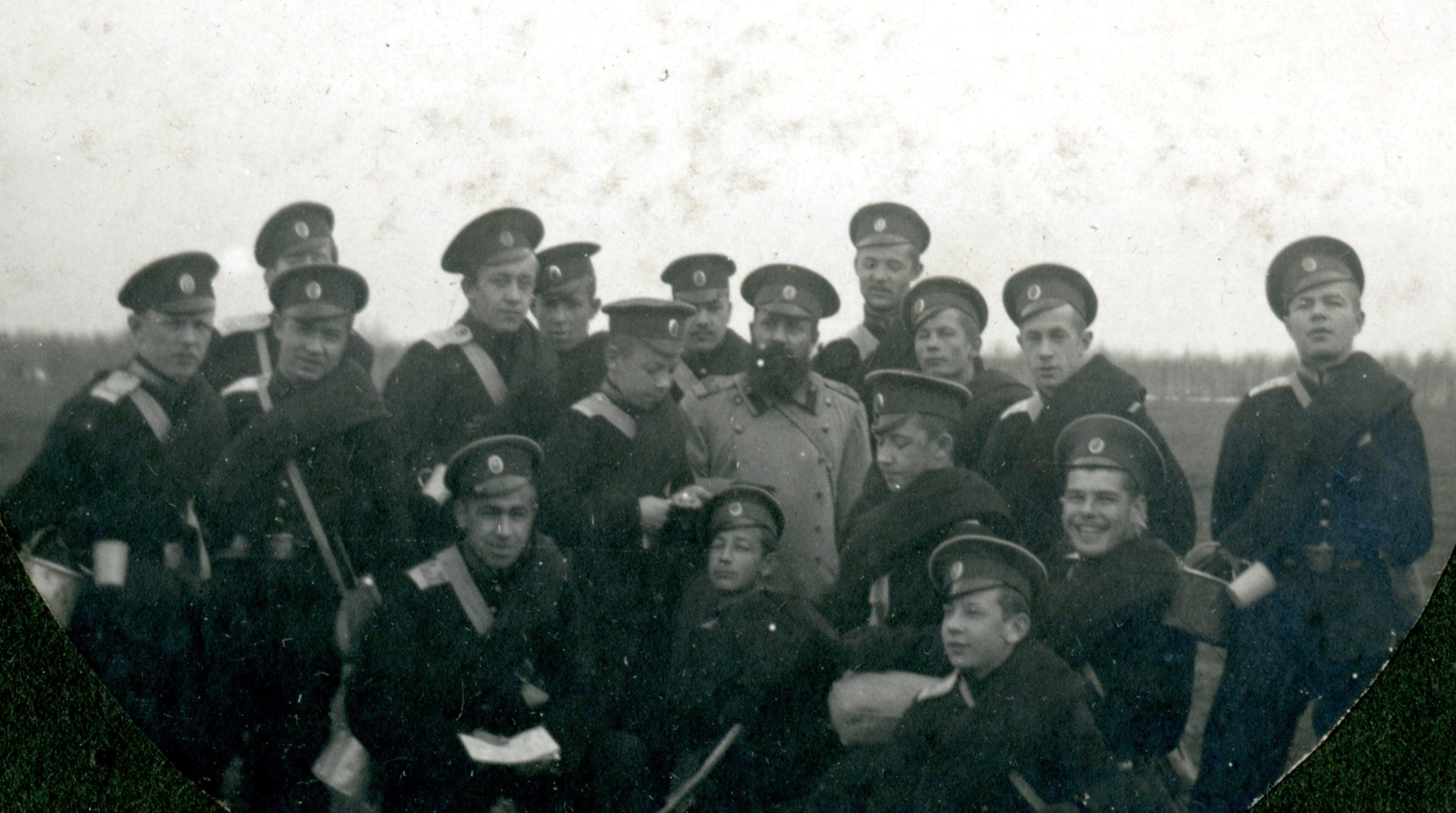 1907-1913. Кадеты на тактических занятиях