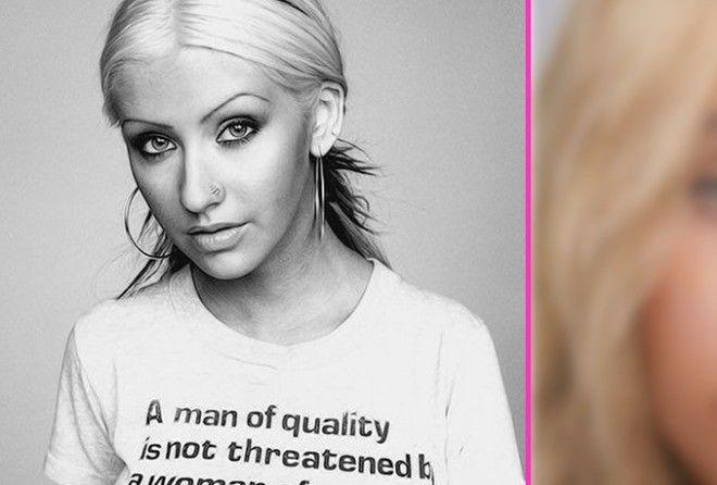 Кристина Агилера без макияжа: такой вы её никогда до этого не видели (6 фото)