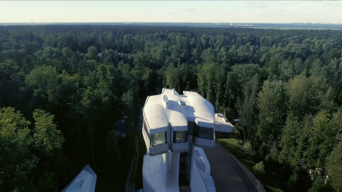 архитектор архитектура бизнесмен дом за городом лес Подмосковье футуризм