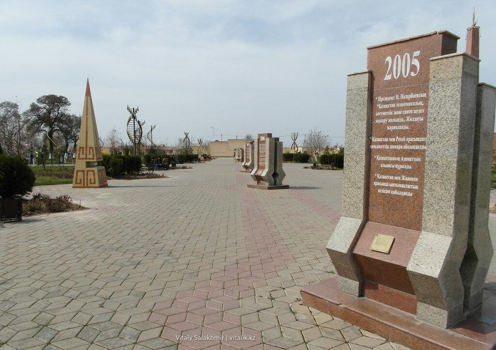 Аллея годов Парк Независимости Шымкент