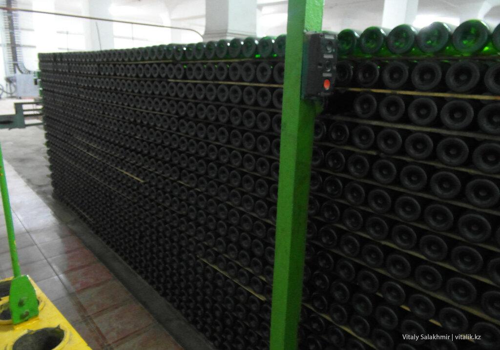 Шампанское на заводе Бахус в Алматы