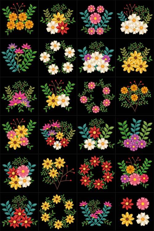 Цветы в векторе / Flowers in a vector