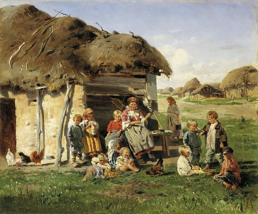 Крестьянские дети. 1890  Харьковский художественный музей, Украина.