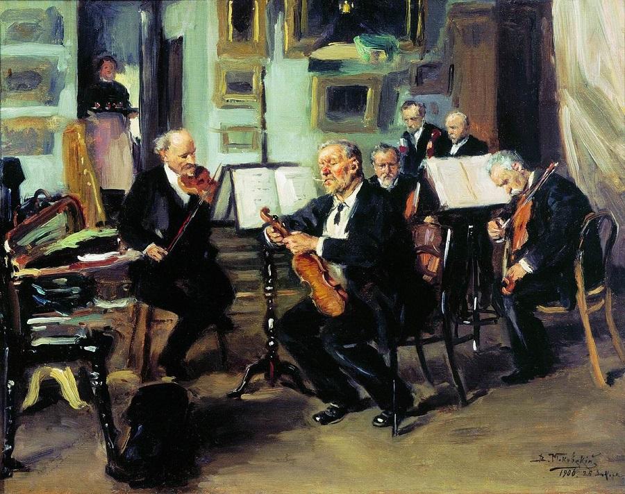 Музыкальный вечер. 1906 Государственная Третьяковская галерея, Москва.