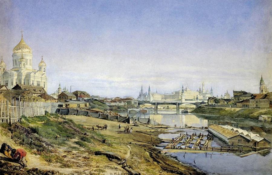 Большой Каменный мост в XIX веке