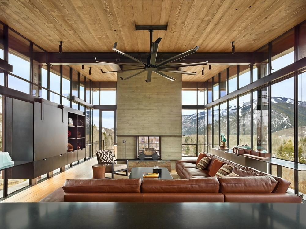 Брутальная резиденция в горах Айдахо