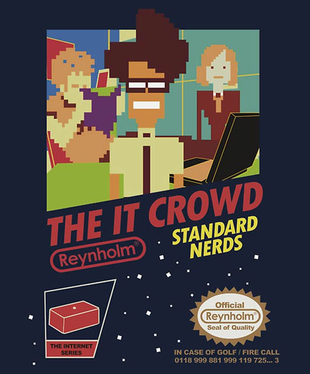 Geeky shirt of the day – The IT Crowd NES game