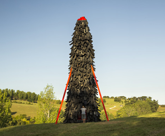Strange Tower Made from Old Tyres