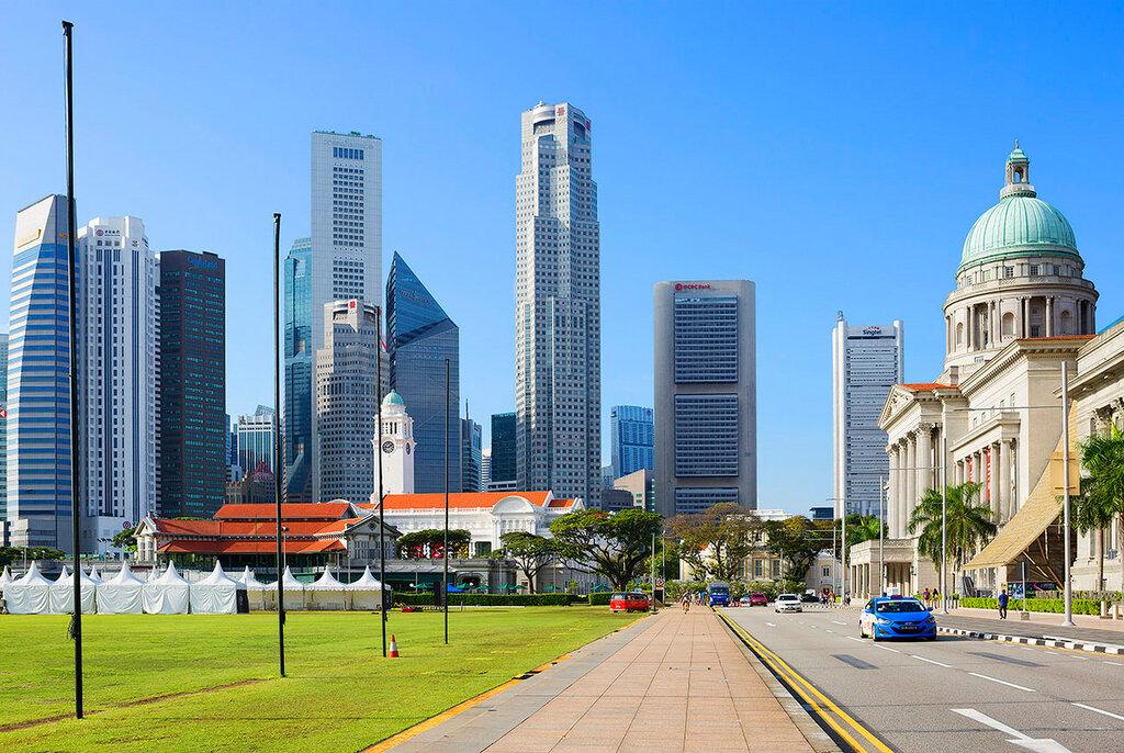 Сингапур. Вид вдоль Свято-Андреевской улицы