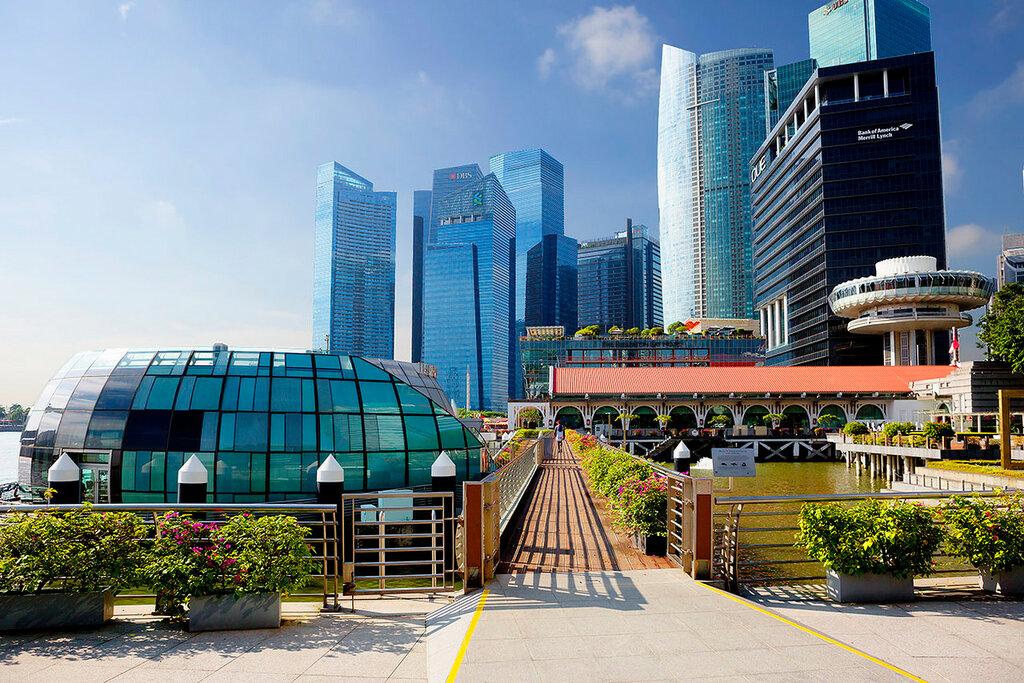 Сингапур. Набережная. Район Клиффорд пирс.