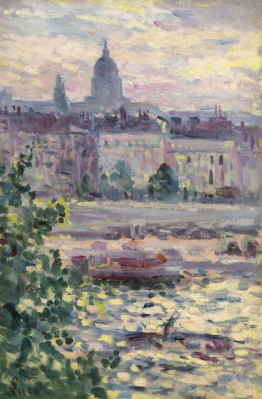 Люс, Максимильен - Paris, Boards of the Seine, the House of Invalids, 1910