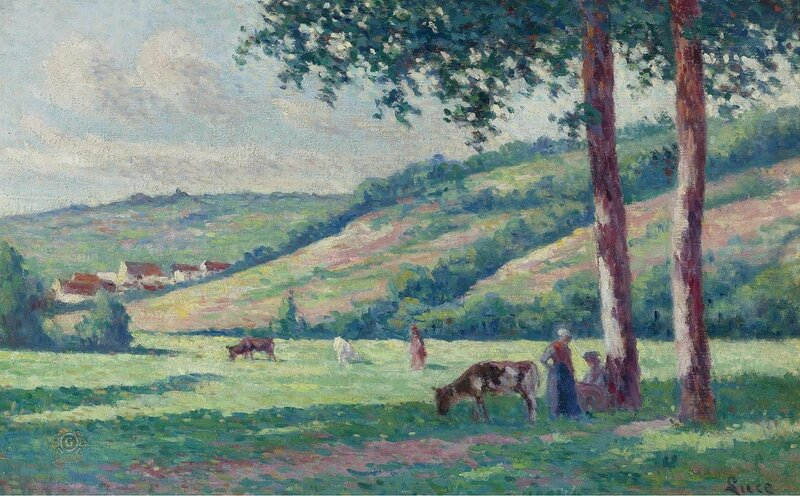 Люс, Максимильен - Landscape with Shepperds and Cows