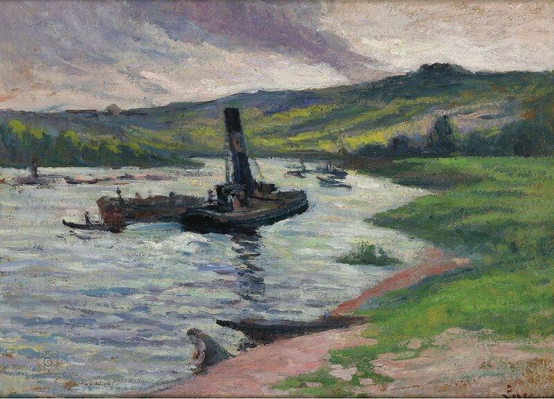 Люс, Максимильен - Tugboat on the Seine