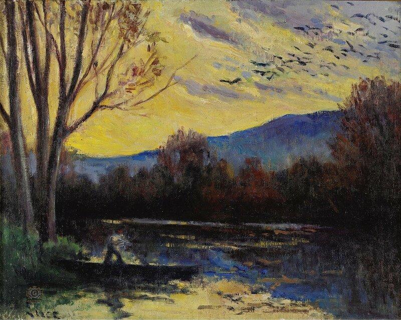 Люс, Максимильен - Moulineux, Sunset over the Etang
