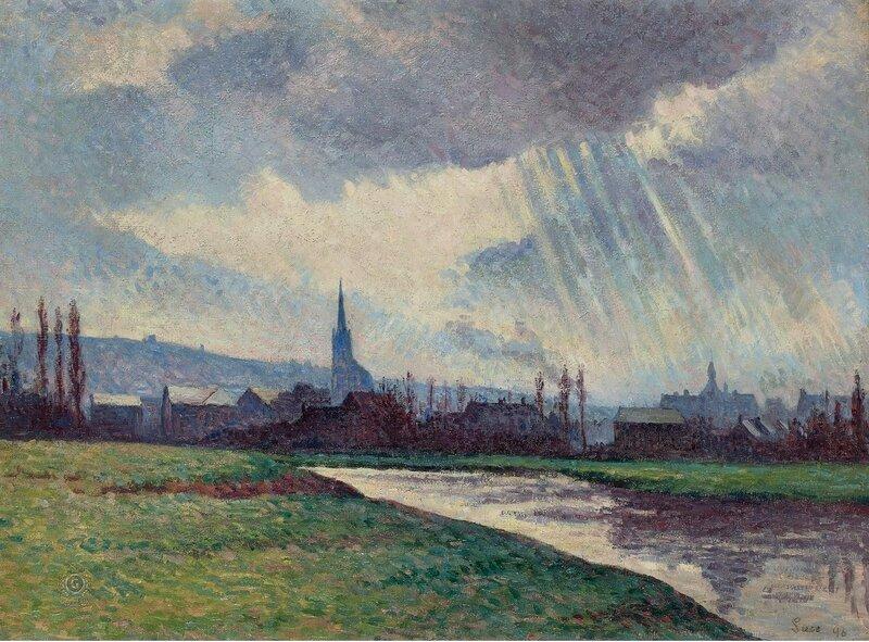 Люс, Максимильен - Landscape of the Riverbanks, 1896