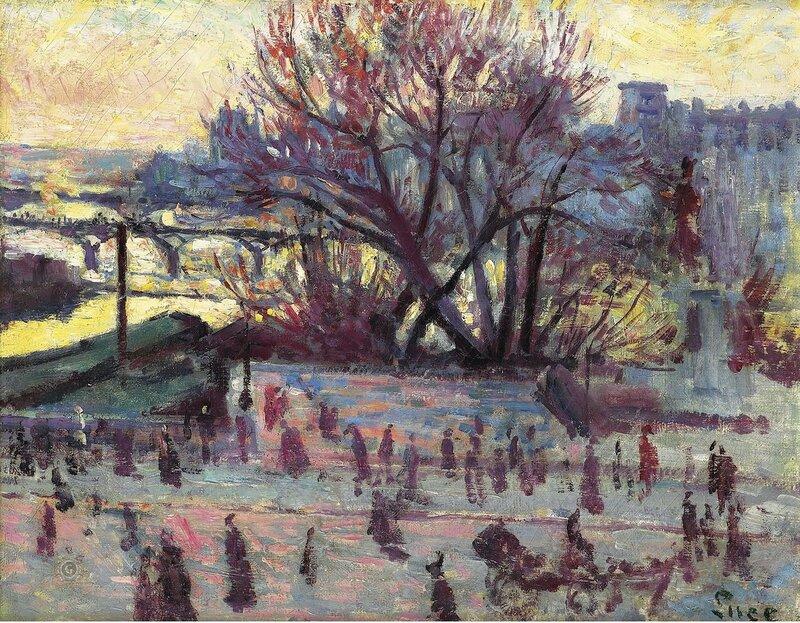 Люс, Максимильен - The Seine, View from the Studio of Pissarro, 1935-37