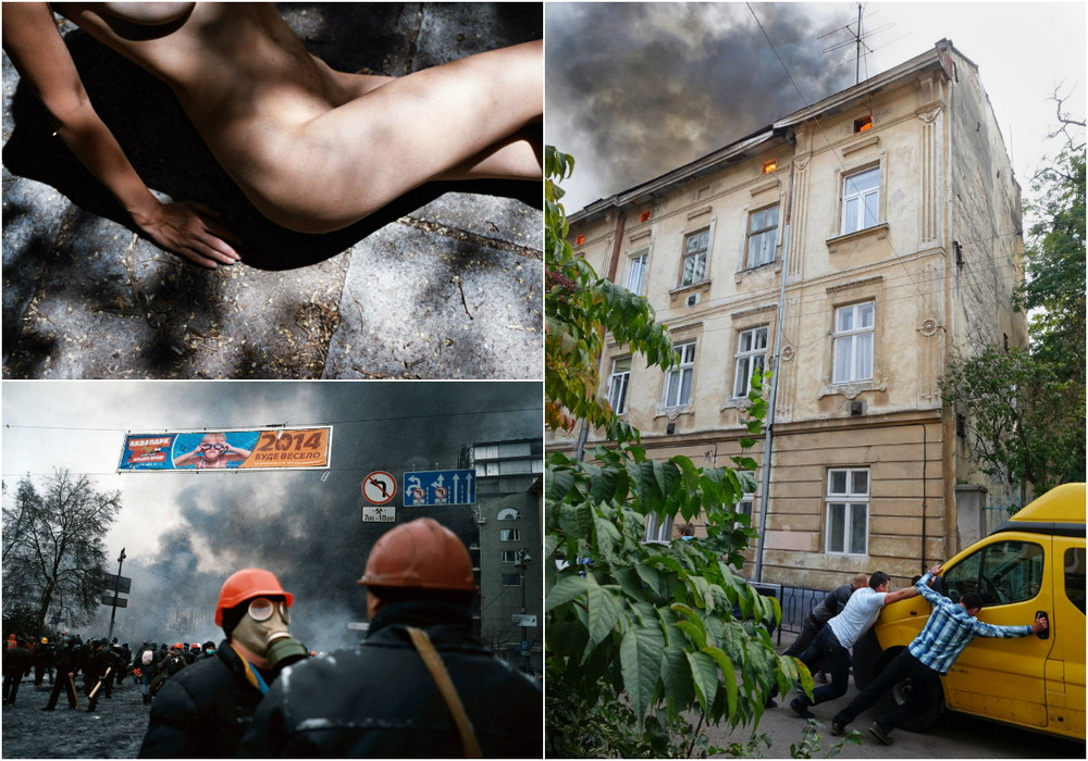 Полуголые девушки, Майдан и социальные сцены в объективе Романа Бордуна