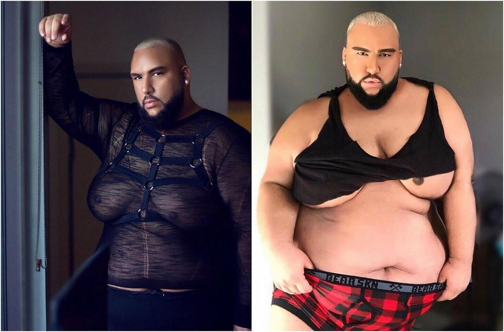 Толстяк с большой грудью стал гламурной моделью