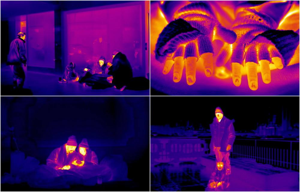 Лондонские бездомные через тепловизор