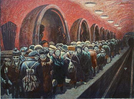 Художник-нонконформист Василий Колотев и его антисоветская живопись (35 фото)