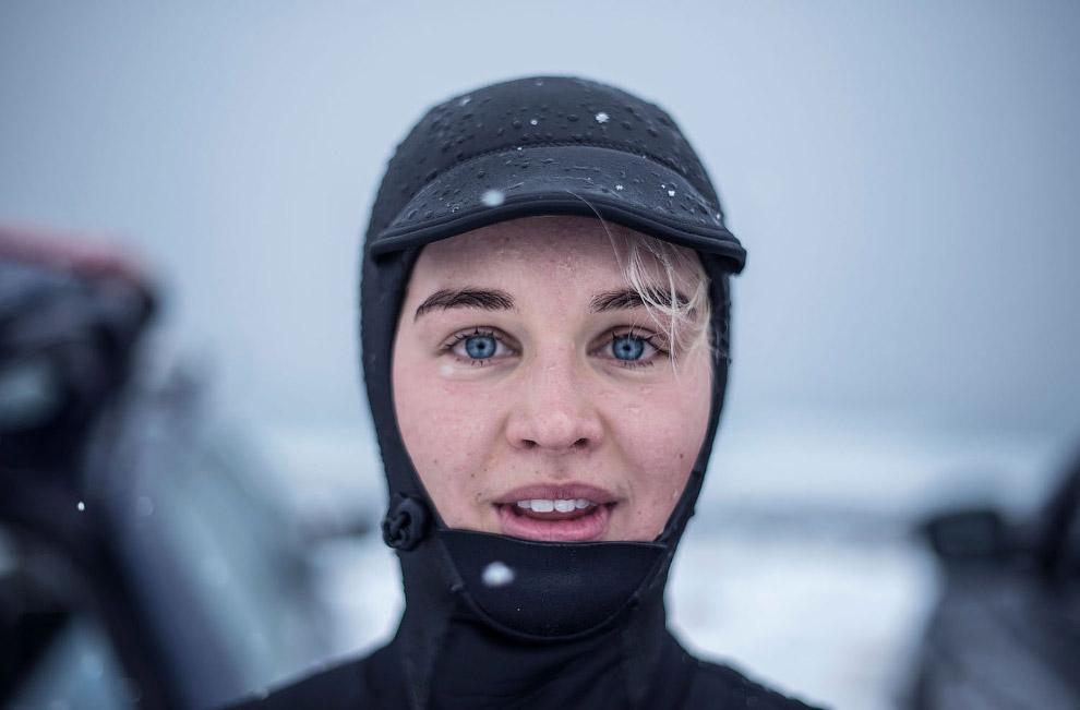 HD Норвегия Лофотенские острова серфинг круги пальмы серфер