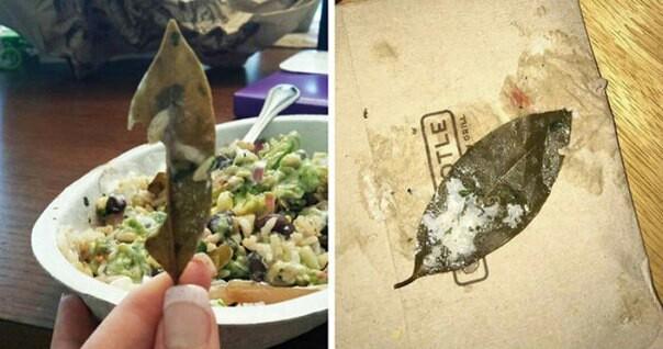 Пользователи Twitter жалуются на ресторан, обнаружив лист неизвестного происхождения