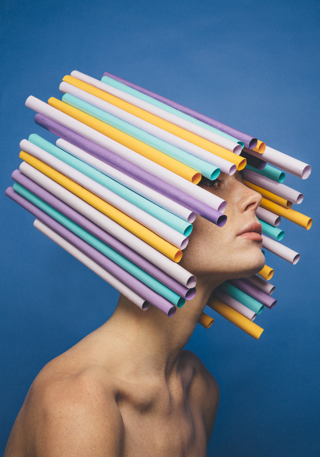 Playful Portraits With Paper Art
