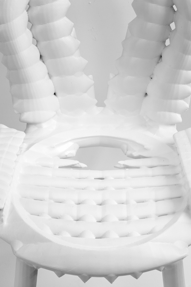 White 3D-Printed Chair