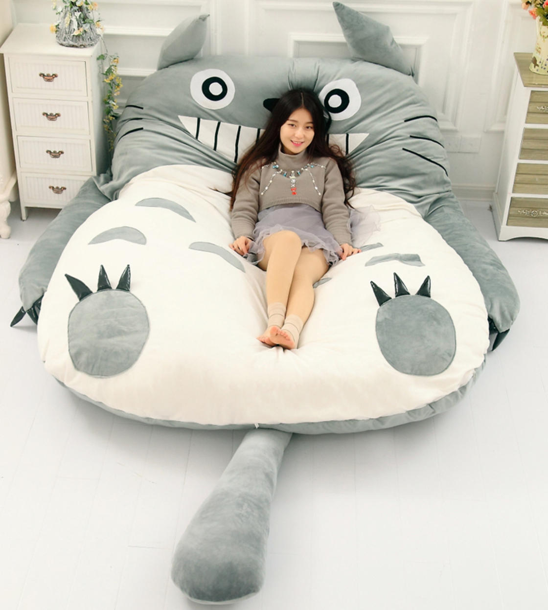 This Totoro bed is the perfect gift for all Miyazaki fans