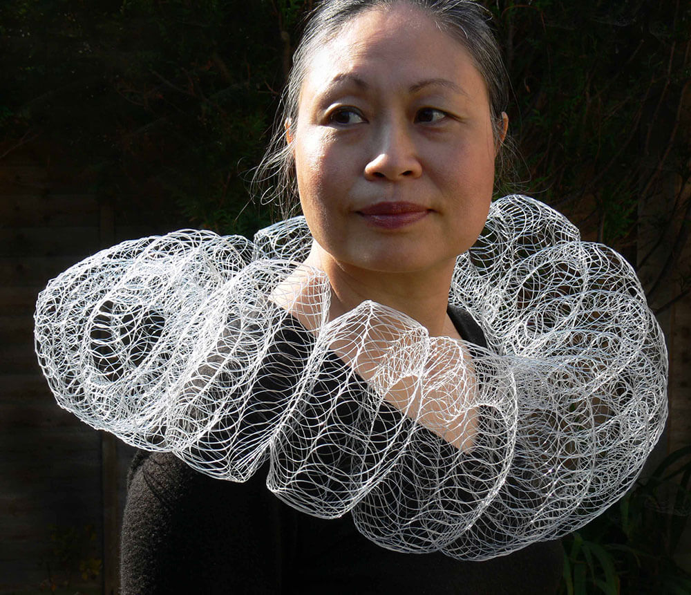 Nora Fok's Ethereal Hand-Knit Jewelry is Inspired by Nature and Science