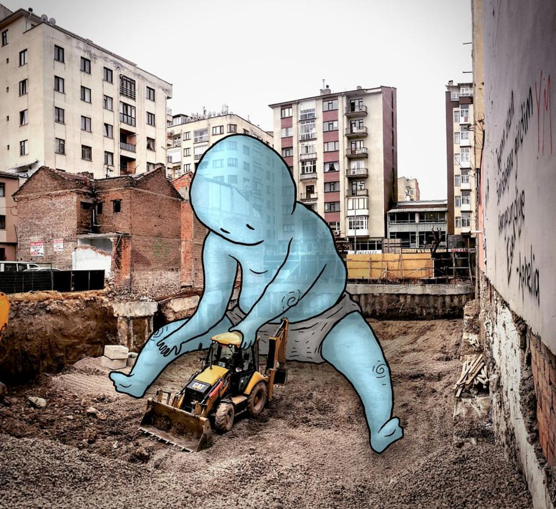 When an architect inserts adorable giants into the streets of his city