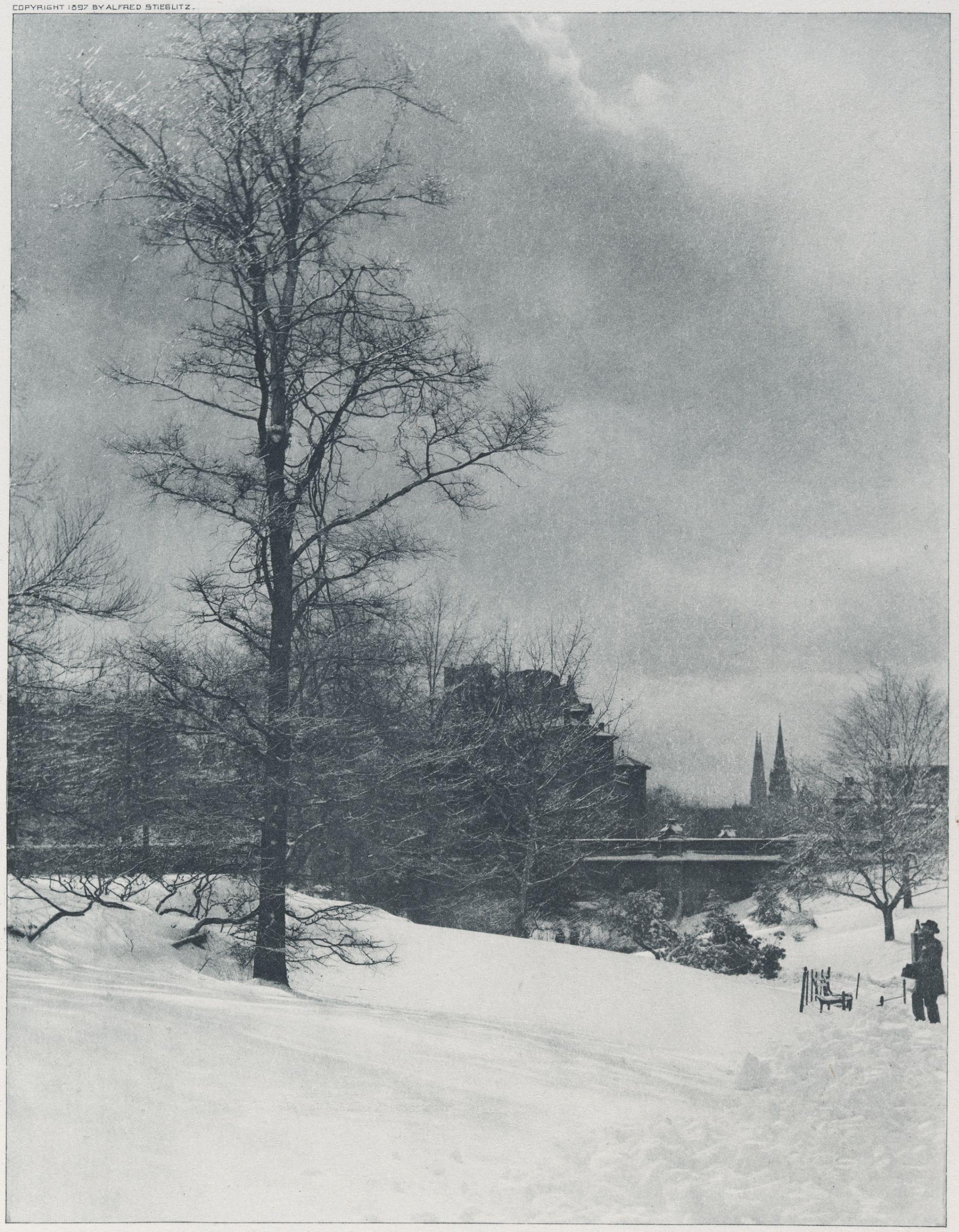 1897. Зимнее небо. Центральный парк