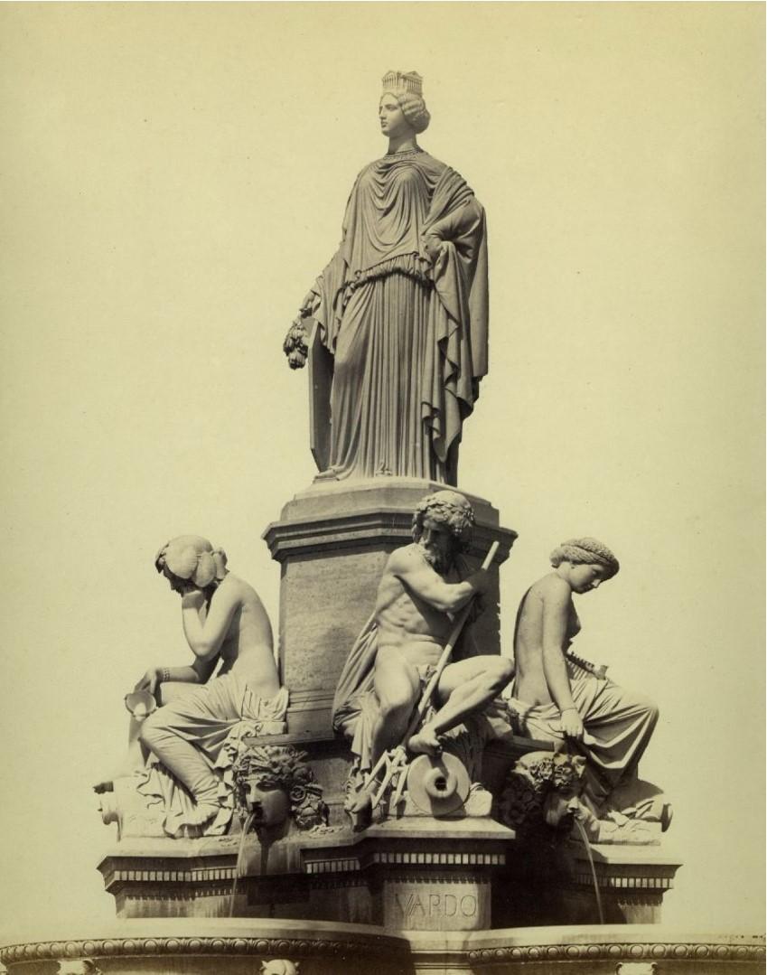 1860-е. Фонтан Прадье в Ниме