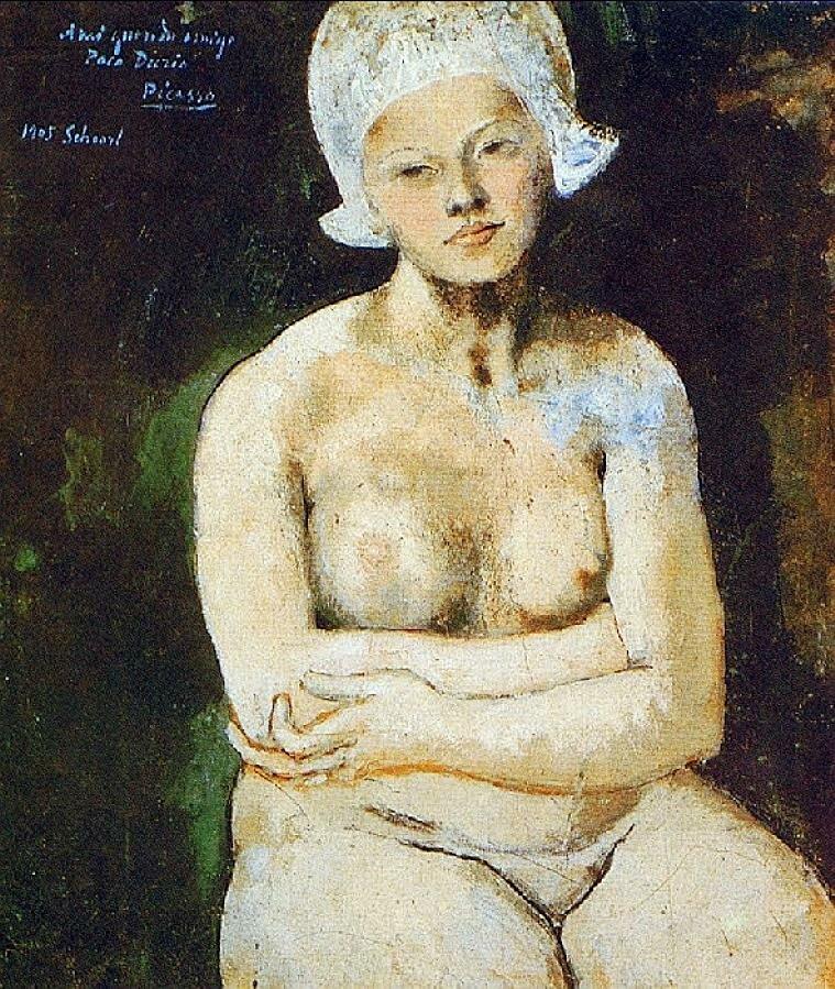 Прекрасная голландка.1905 г. Пабло Пикассо,   Collection: Queensland Art Gallery  